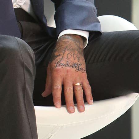 tattoo beckham hand 19 david beckham tattoos and their significance