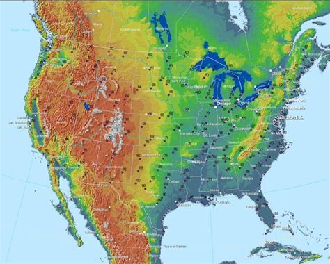 map of united states weather united states weather map