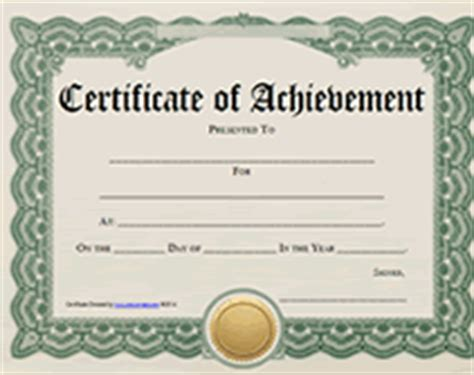 certificate of accomplishment template free free printable certificate of achievement blank templates