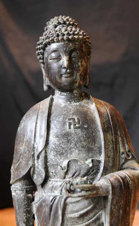 bronze buddha statue indian buddhism buddhist religious art sculpture