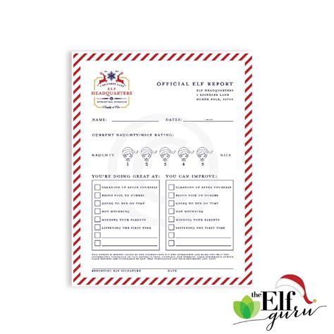 printable elf on the shelf progress report elf report elf progress report 76thandnewbury