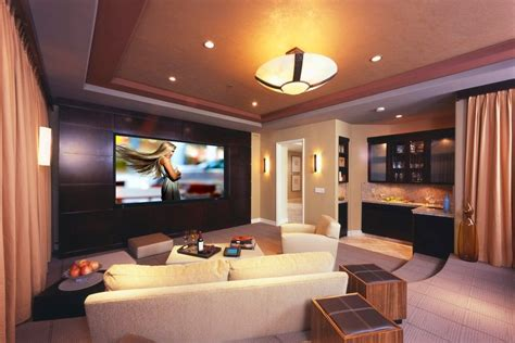 home theater  addition  large modern interior small