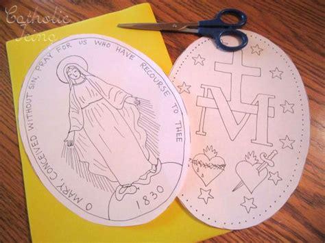 catholic crafts miraculous medal craft for catholic re craft ideas