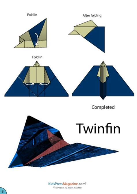 Origami Paper Planes - twinfin airplane origami origami airplane origami paper