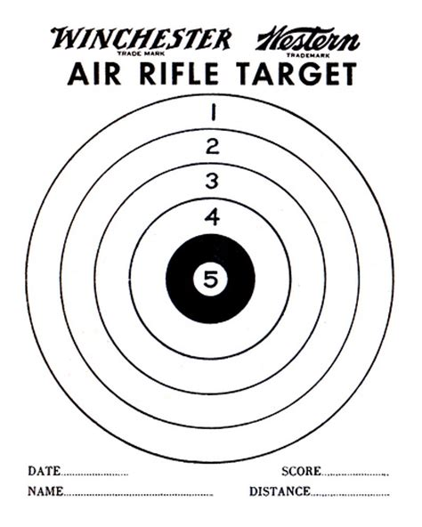 printable rifle pistol targets air gun targets printable air rifle target pdf printable