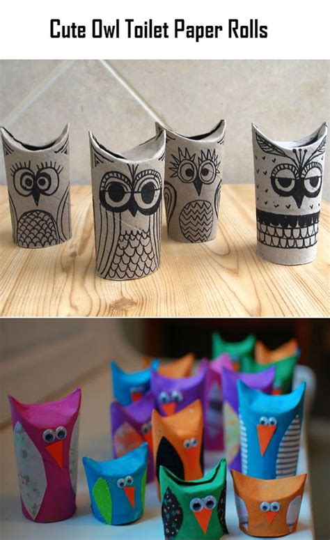 Things To Make Out Of Toilet Paper Rolls - owl toilet paper rolls simple home diy ideas