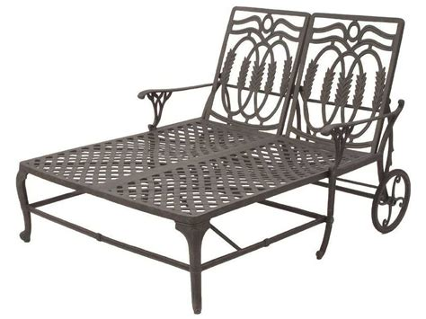 metal chaise lounge suncoast olympia cast aluminum double chaise lounge 20423
