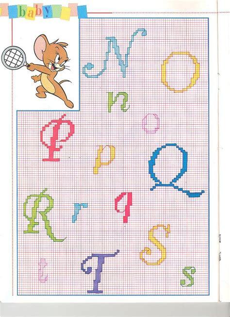 lettere da ricamare alfabeto punto croce da ricamare con tom e jerry 3
