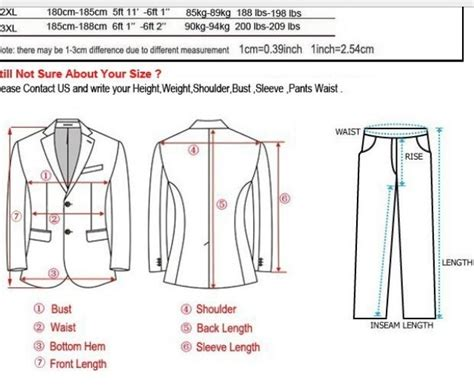 How To Measure For A Suit With Pictures Wikihow Suit Measurements Template