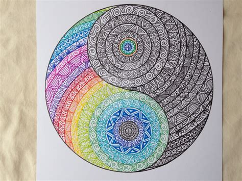 doodle god yin yang beautiful zentangle yin yan from madebymelw on deviantart