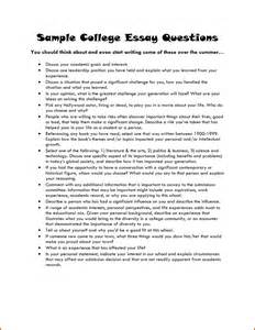 College Admissions Essay Samples Examples Of College Essays Summer Camp Entrepreneur