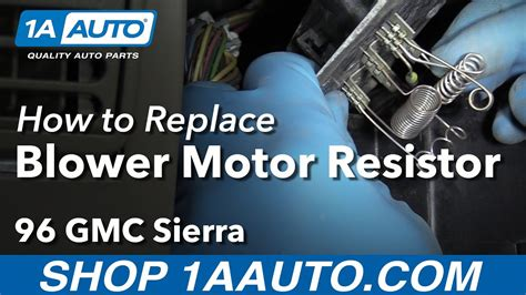 how to replace a blower motor in a 2010 toyota camry how to install replace blower motor resistor 1996 gmc sierra k1500 youtube
