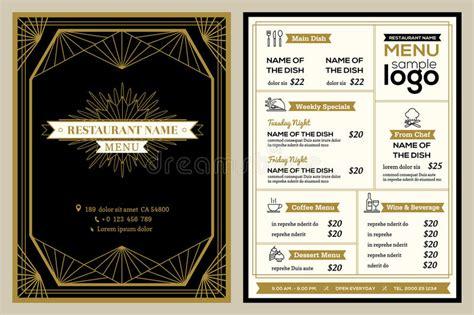 design menu vintage restaurant or cafe menu cover design template with vintage