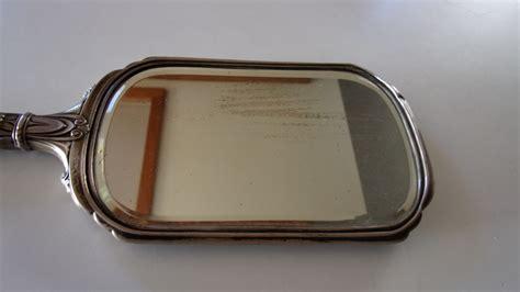 Held Vanity Mirrors antique silver held vanity mirror collectors weekly