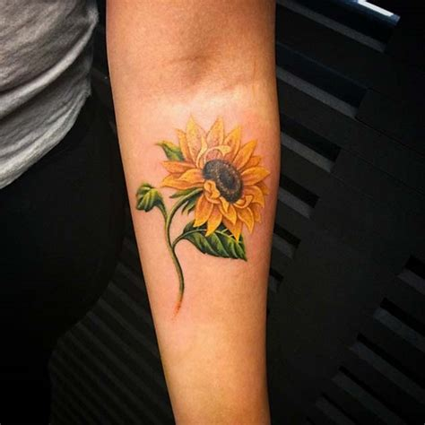 sunflower tattoo meaning 150 vibrant sunflower tattoos and meanings march 2019