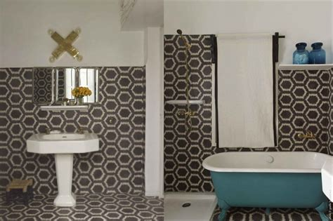 Handmade Bathroom Tiles - popham design cement tiles handmade in morocco zigzag