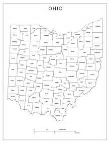 County Map Ohio by Ohio Labeled Map