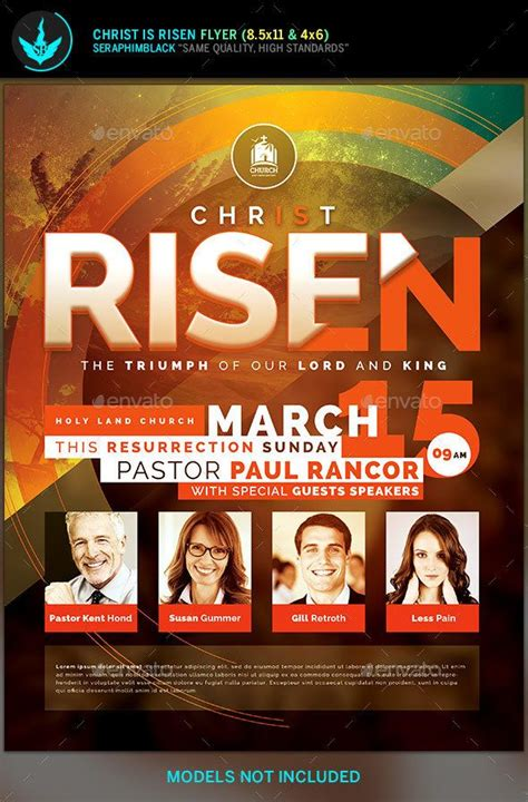 god themes with tone christ is risen church flyer template flyer template