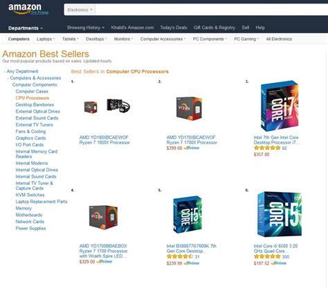 best seller list amd ryzen cpus are already leading s best sellers list