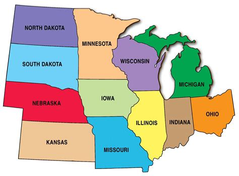 map usa regions the united states midwest region map thefreebiedepot