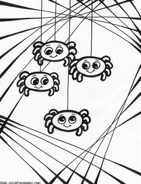 halloween coloring pages spider web coloring picture of spider