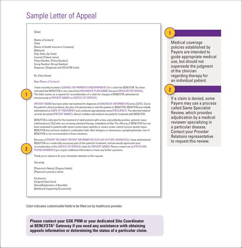 Appeal Letter For Non Covered Services Benlysta Belimumab Gsksource