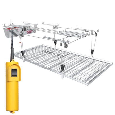 Motorized Overhead Garage Storage Systems by Motorized Ceiling Storage The Garage Organization Company