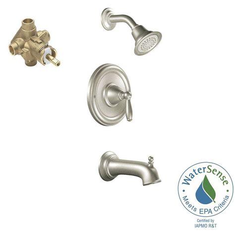 moen brantford bathroom faucet with regard to desire moen brantford single handle 1 spray posi temp tub and