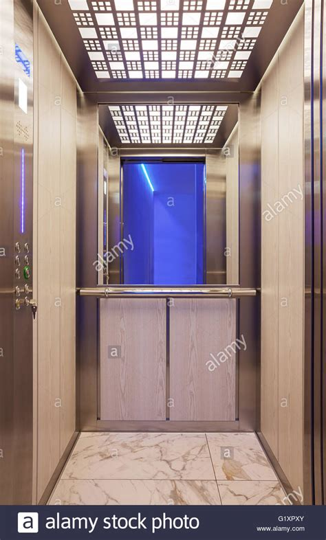 elevator interior design newsonair org details of a modern elevator interior design stock photo