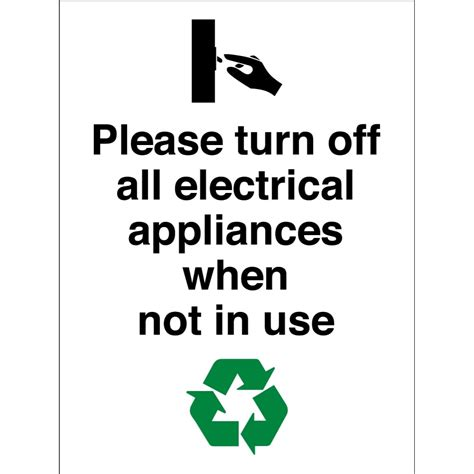 Do Ls Use Electricity When Turned by Turn All Electrical Appliances When Not In Use