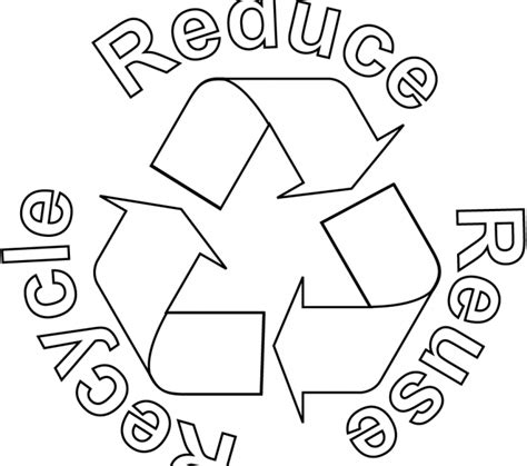 86 recycle coloring page reduce cliparts recycling
