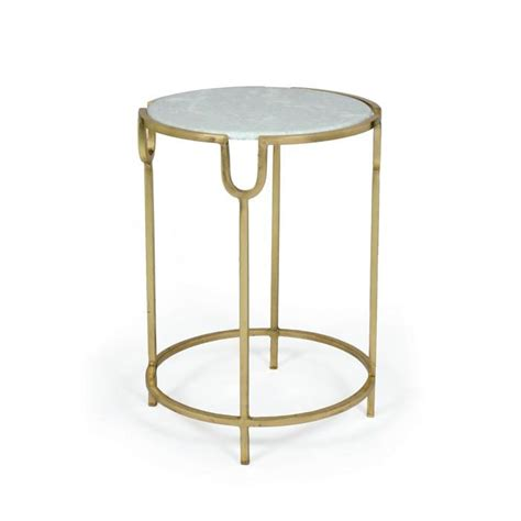 marble gold side table glam white marble top gold side table