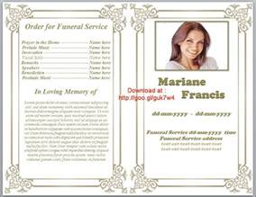 Free Funeral Program Template by Free Printable Funeral Program Template Playbestonlinegames