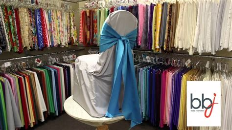 bbjlinen com bbj linen tie a simple knot using chair covers and linens
