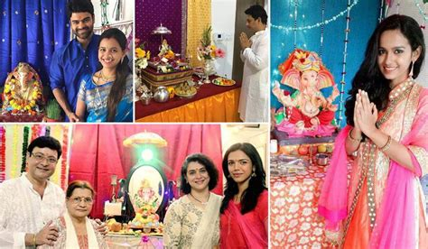 the actor ganesh song photos celebrity bappa actor actress celebrate