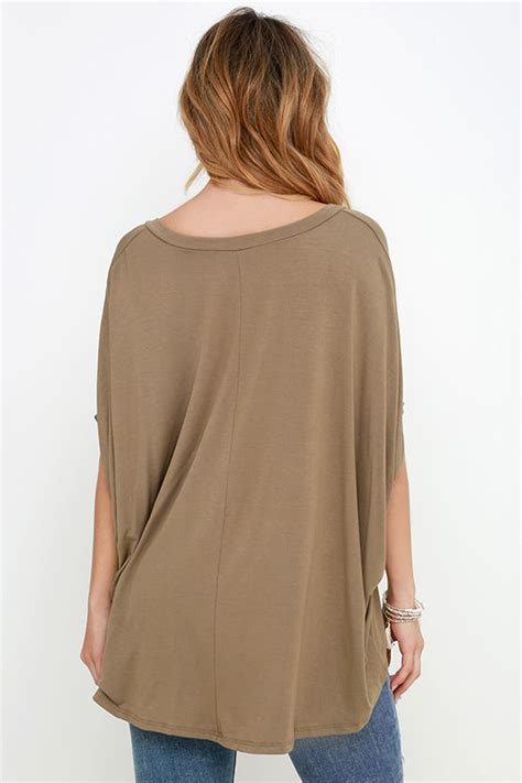 Atmosphere Knit Top v neck top dolman sleeve top jersey knit top