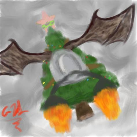 flying christmas tree by altimis on deviantart