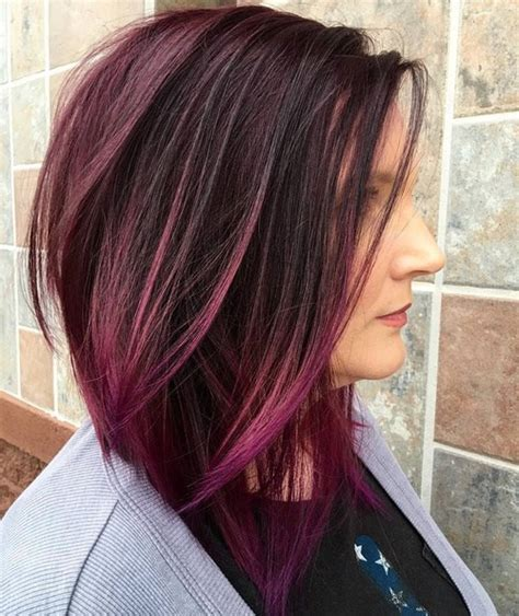exaggerated bob haircut the gallery for gt purple eggplant hair color