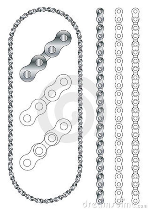 Bike Chain Outline by Bicycle Motorcycle Metal Chain Vector Stock Photo Image 12707450
