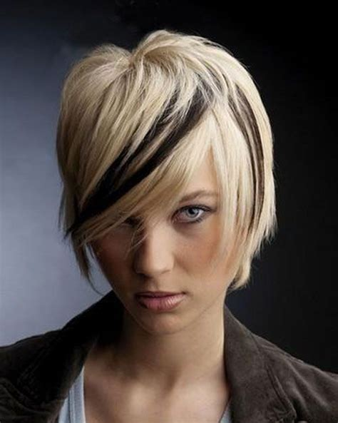 medium hair styles with blond in front color short hair color ideas pictures 2013 short haircut for