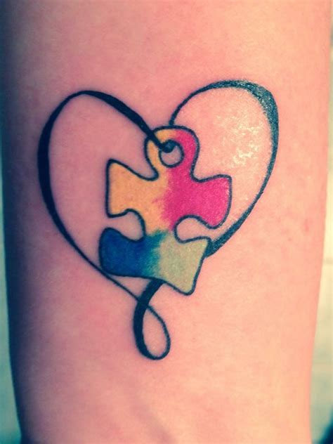 autism puzzle piece tattoos best 25 autism tattoos ideas on autism