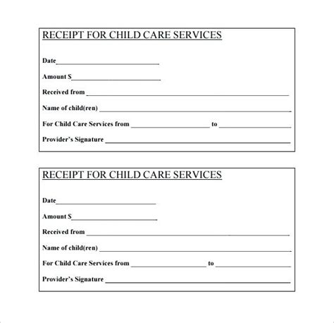 Tuition Invoice Receipt Template Child Care by Tuition Receipt Template Mindofamillennial Me