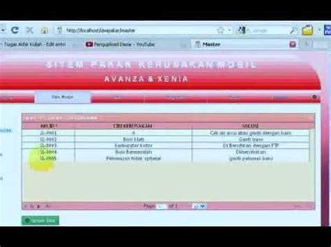 desain database sistem pakar aplikasi sistem pakar kerusakan mobil metode certainty