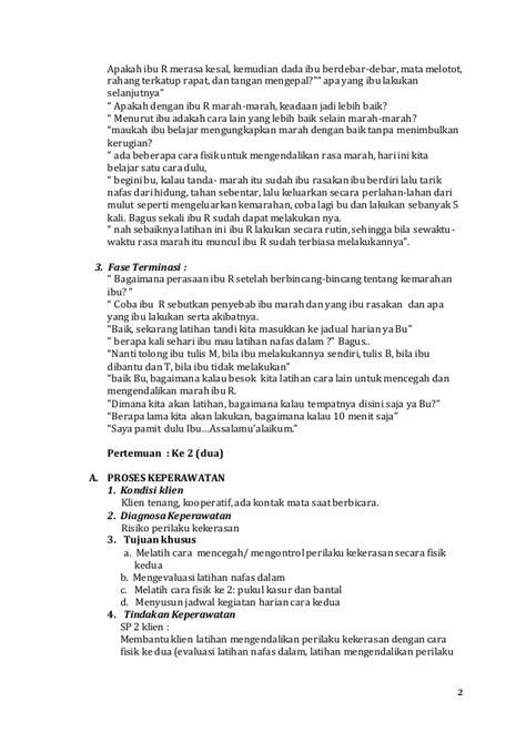 format askep jiwa perilaku kekerasan strategi pelaksanaan jiwa perilaku kekerasan