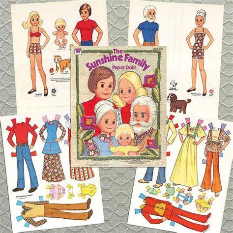 printable paper doll family printable the sunshine family paper dolls vintage 1977 w