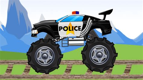 police monster truck police vehicles youtube