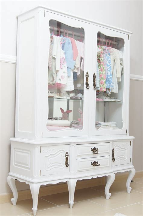 little girl armoire repurpose a vintage china cabinet into a little girl s
