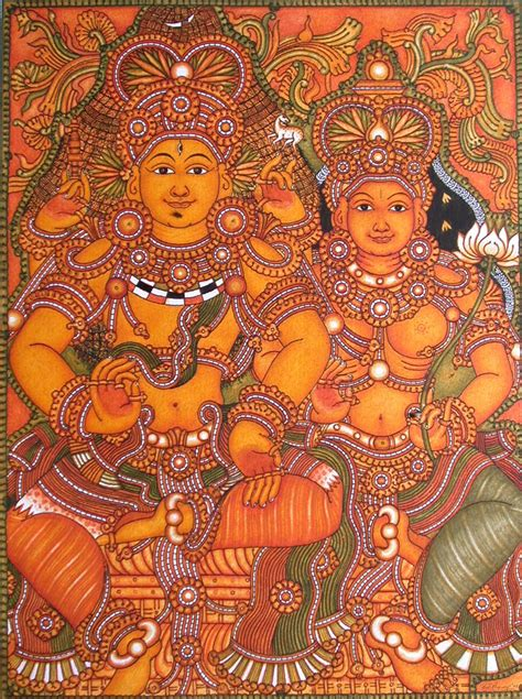 Dance Wall Murals kerala mural art paintings shiva and parvathi online