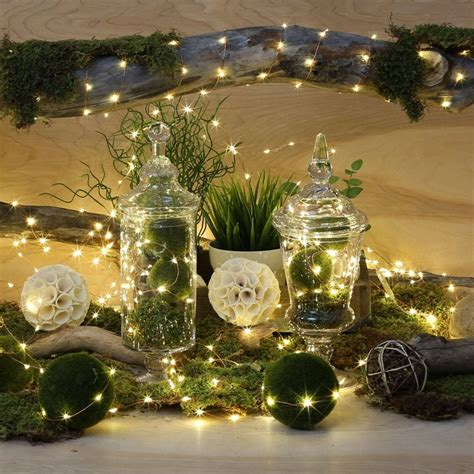 micro silver wire fairy rice led string light for
