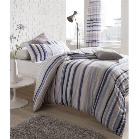 catherine lansfield catherine lansfield knitted stripe blue duvet set catherine lansfield from emporium home